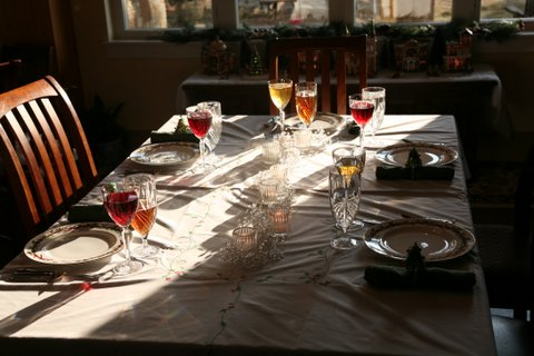 Our Christmas table.