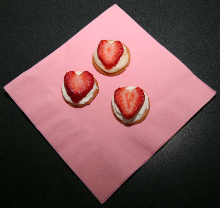 Stawberry Heart Cookies sized