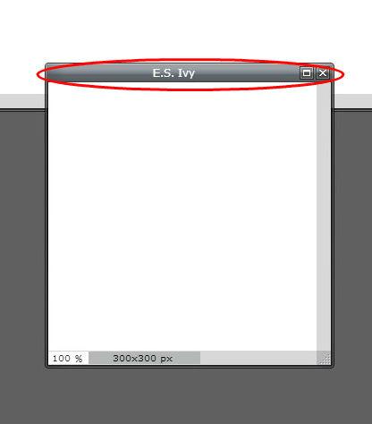 Pixlr tutorial: ES Ivy image window