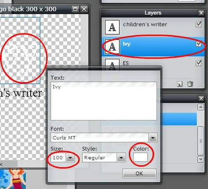 how to get fonts into pixlr