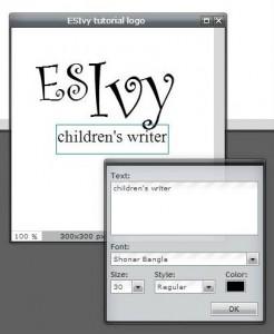 Pixlr tutorial: children's writer