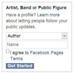 facebook page author selection