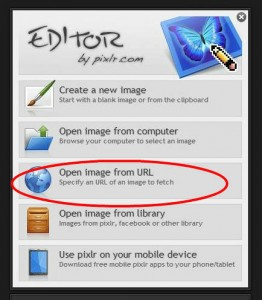 Pixlr tutorial: open from url