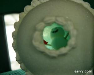 Winter craft: peek snowball