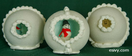 Winter craft peekaboo sugar snowballs