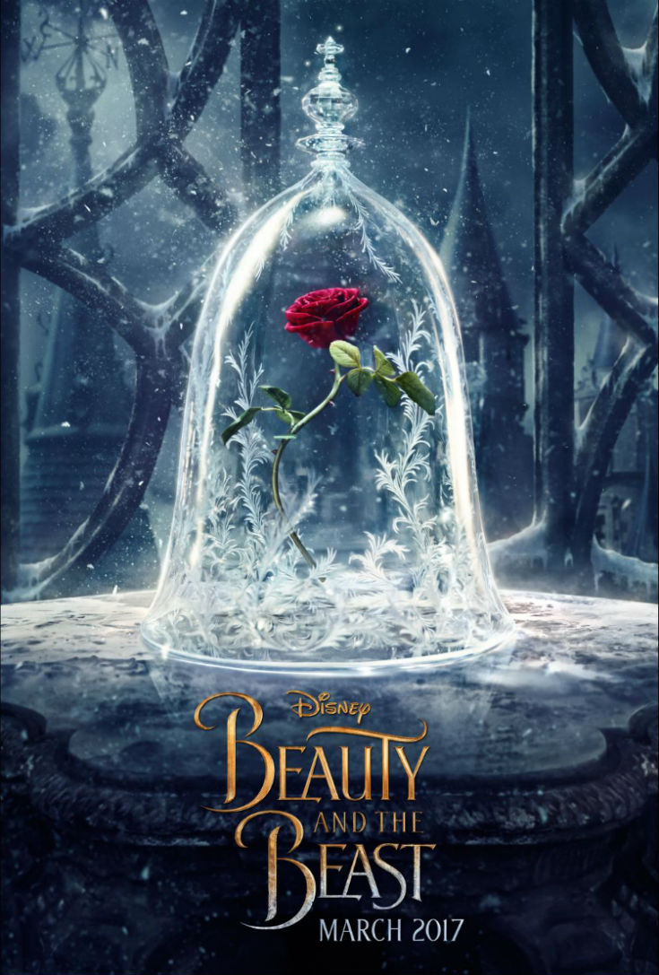 Beauty and the Beast Disney Life-Action official movie teaser poster.