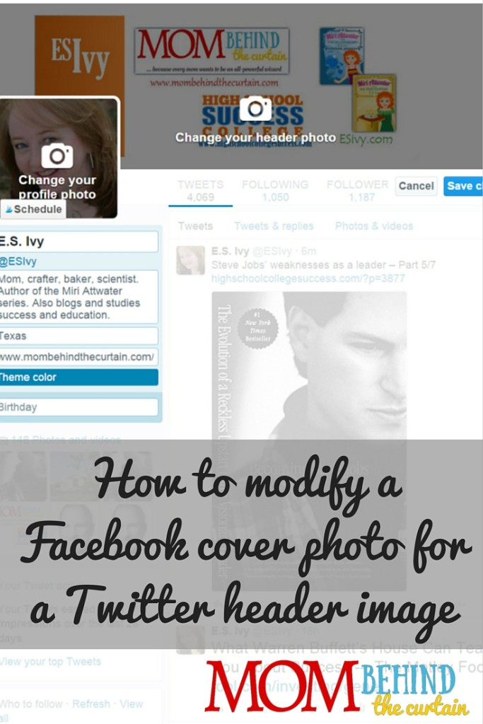 Facebook cover to Twitter