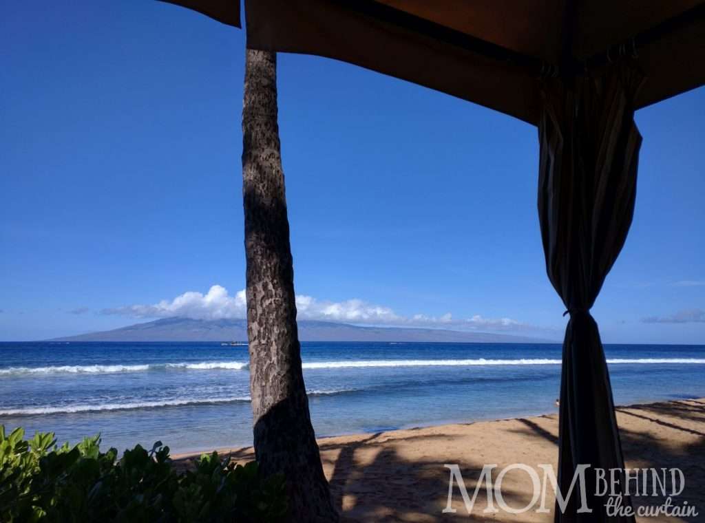 Maui Hyatt beachside cabana
