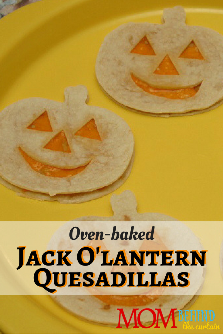 Halloween Party Food - ideas for kids party that are easy and healthy! Okay, is anything really healthy besides kale? These are at least healthier than the candy that's - let's face it - going to be consumed in massive quantities! Oven-baked Jack O'lantern Cheese Quesadillas