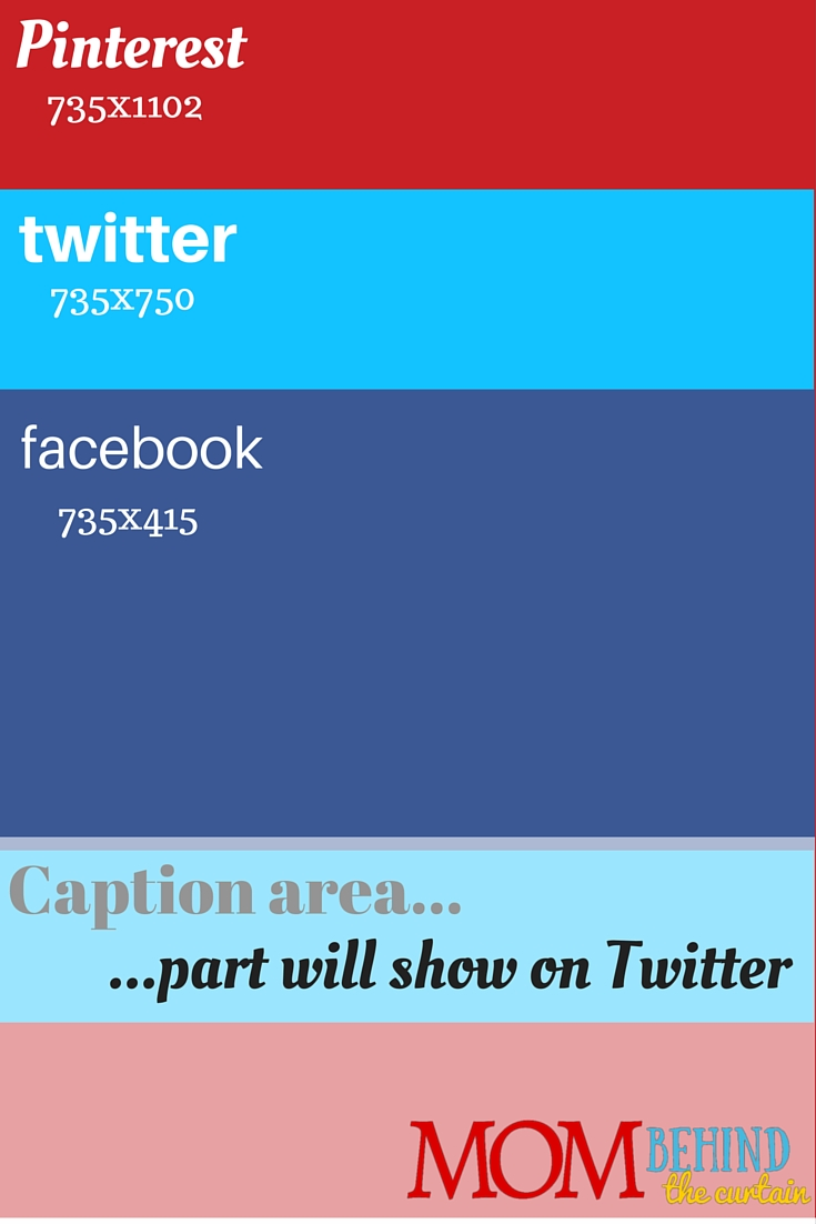 Template to create the best social media image size and composition that will work social sharing images on Facebook, Twitter, and Pinterest.