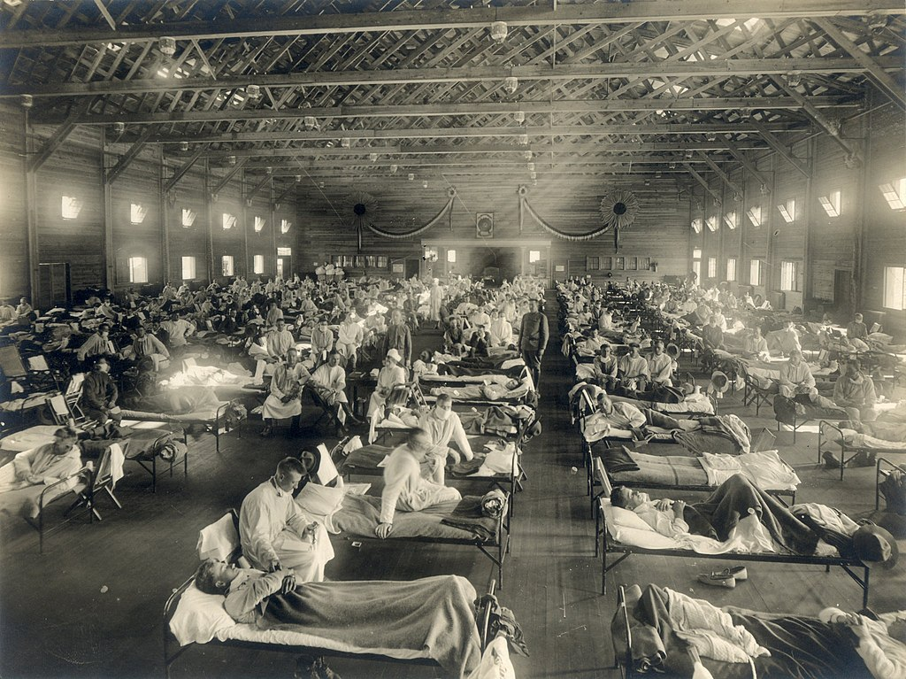 1918 Spanish Flu pandemic during WWII, military hospital, how my grandfather survived the Spanish Flu pandemic.
