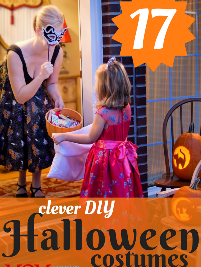 17 creative and clever DIY Halloween costumes for kids and teens. #6 gets my most creative award! Now why didn't I think of that? The minimalist princess costume is my favorite costume idea for a group of teen girls!