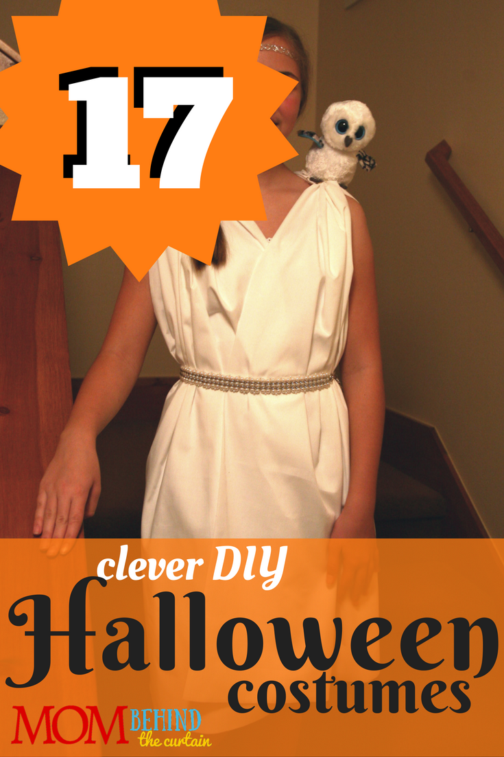 17 creative and clever DIY Halloween costumes for kids and teens. #7 gets my most creative award! Now why didn't I think of that? The minimalist Cinderella princess costume is my favorite costume idea for a group of teen girl friends!