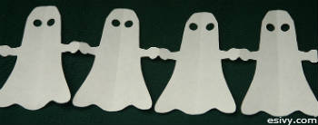 paper doll ghost garlands