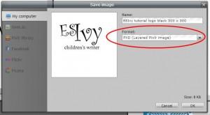 Pixlr tutorial: format