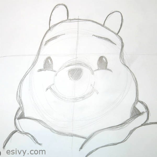 Hollywood studios son's Pooh drawing in class