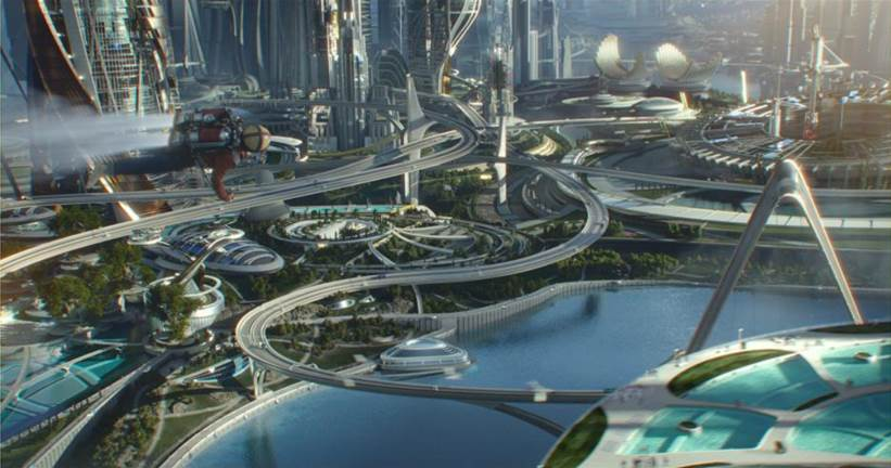 tomorrowland futuristic city