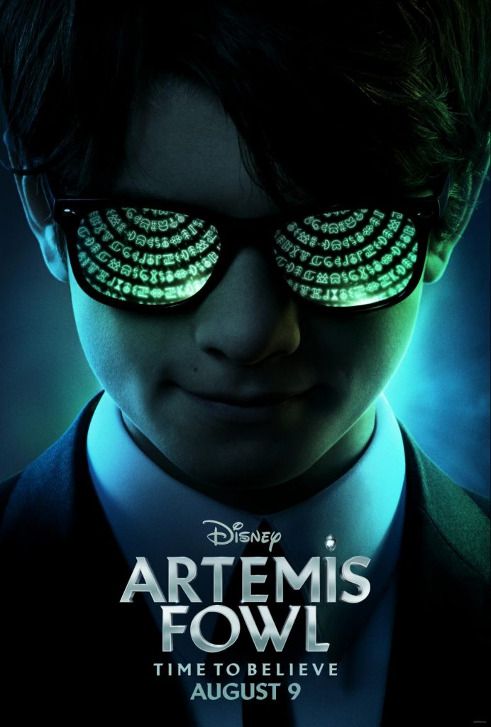 Artemis Fowl Movie Poster - The Artemis Fowl movie is finally coming! Read on to watch the Artemis Fowl movie trailer, find out the Artemis Fowl movie release date, AND get tips on how to use the movie to motivate a boy to read! #ArtemisFowl #Disney