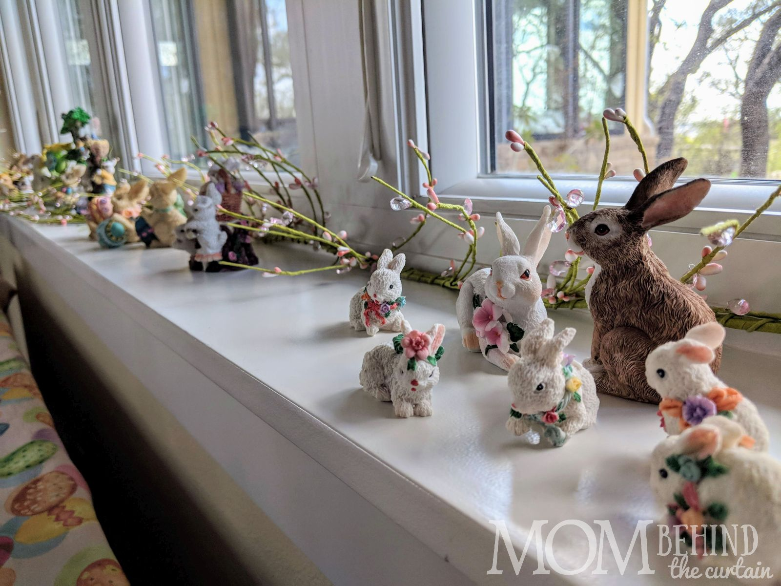 Easter decor figurine collections rabbits bunnies