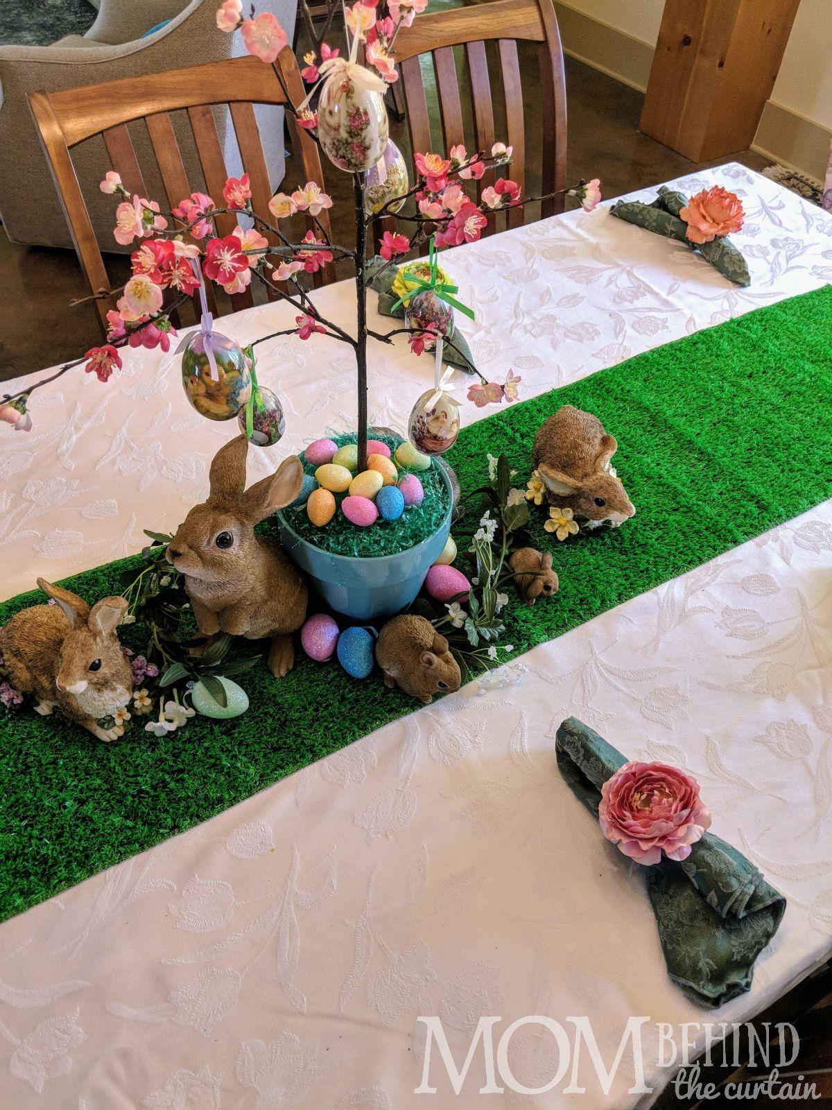 Easter tree in bloom centerpiece.