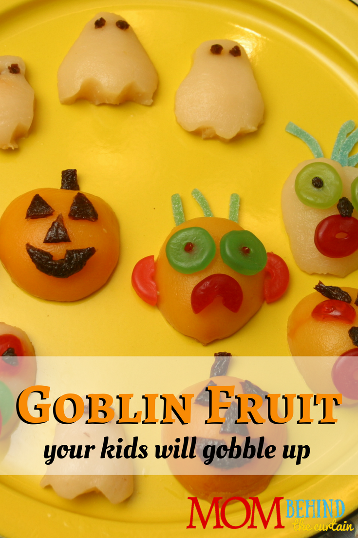 Super easy Halloween food ideas for kids party! How to make 3 different cute goblin Halloween fruit snacks.