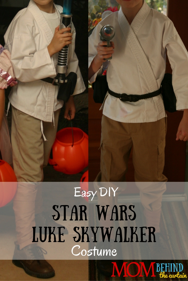 My son loved Star Wars so much that he wanted to be Luke Skywalker for Halloween & Star Wars Luke Skywalker DIY costume u2022 Mom Behind the Curtain