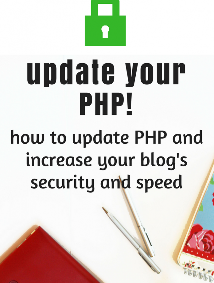 Blog tip - your website is probably running outdated PHP and you don't know! Learn what PHP is, and learn how to update it and increase your site speed and security - a WordPress tutorial