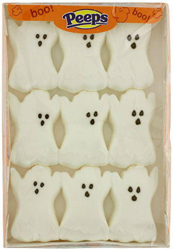 Peeps ghosts for Halloween cake