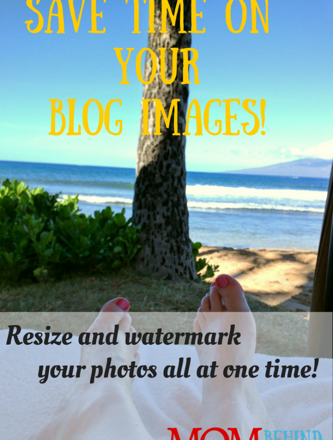 Save time on your blog images for social media. Tutorial for how to batch resize and add a watermark to your images all at the same time using free Irfanview.