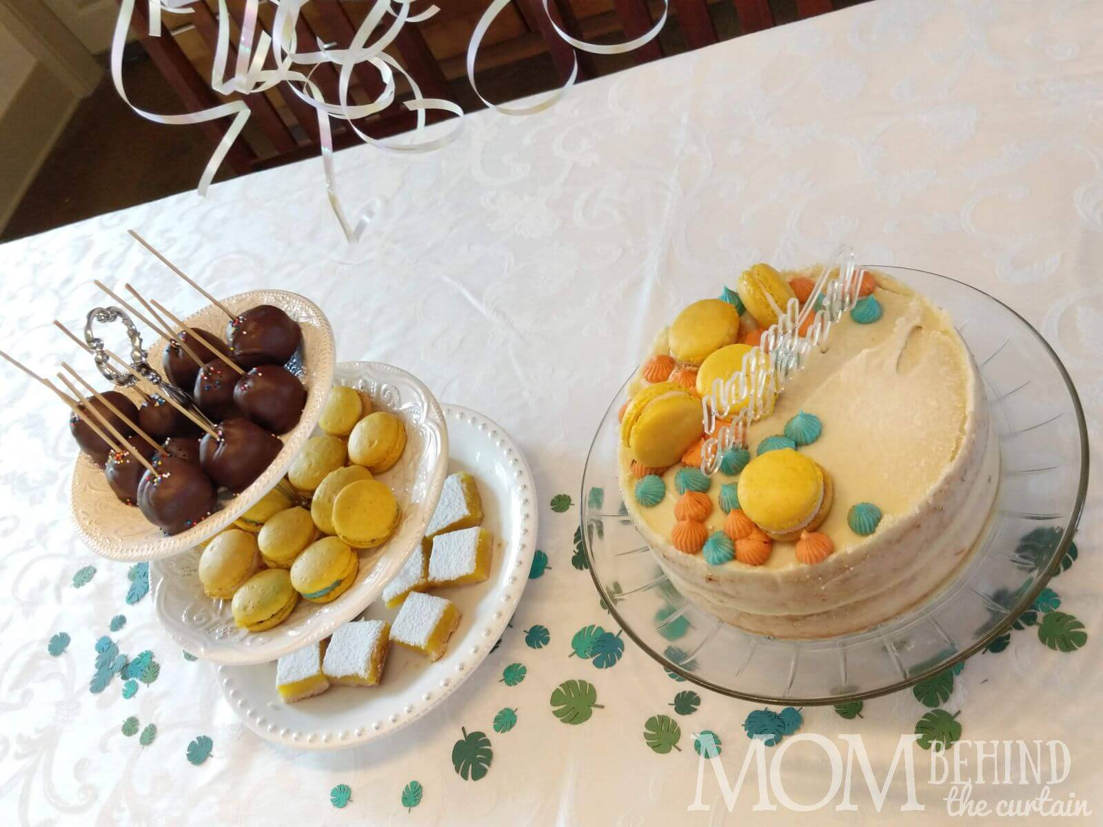 birthday cake and dessert ideas - tiered dessert stand