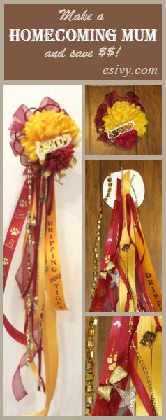 DIY Homecoming mum tutorial. Make your own Homecoming football mum, tips to make yours special and save money!