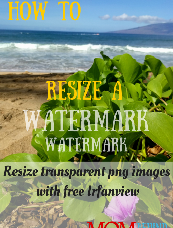 Before you can add a watermark to your photos all at once in a batch, you need to have the right size image as a transparent png image. To do it in Irfanview you need know this trick!