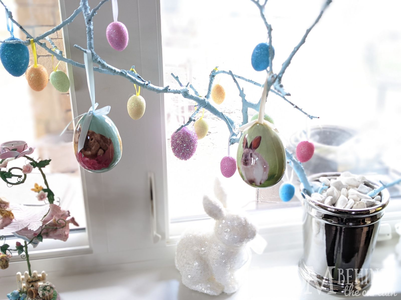Easter tree diy decor from a branch.